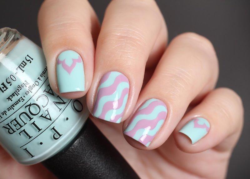 Zachte manicure met vlekken