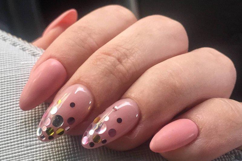 Nagel manicure met kamifubuki