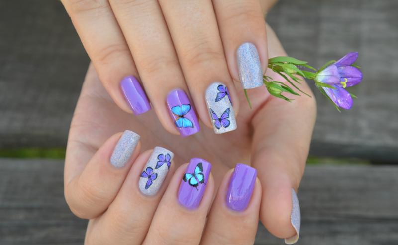 Lavendel goudsbloemen met glijbaan en glitter