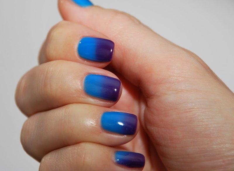 Blauwviolet thermische vernis