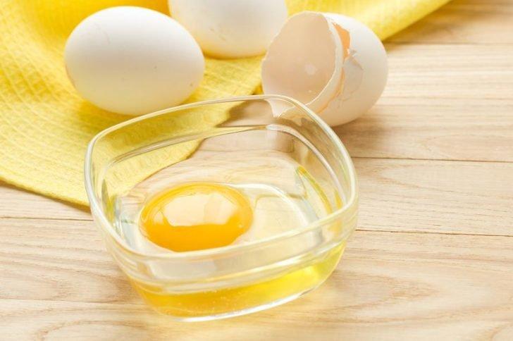 Eieren voor haarmaskers