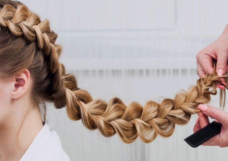 Volumevlecht voor lang haar