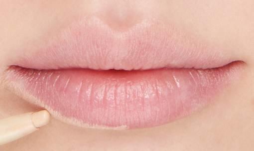 Concealer lūpų kontūravimas