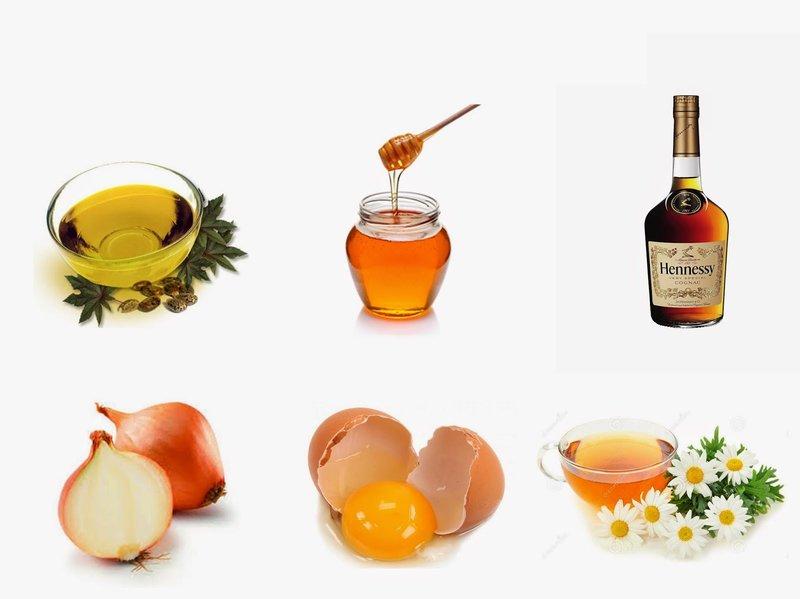 Composities van maskers met cognac