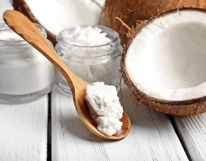 Gespleten eindoliën met kokosolie