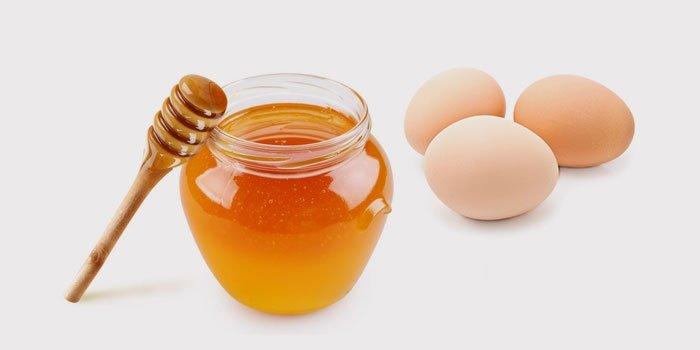 Masker met ei en honing