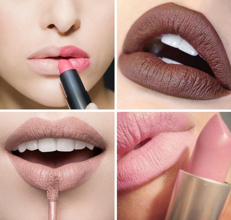 Matinių lūpų dažų atspalvių variantai