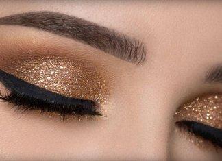 Maquillage avec des flèches et des ombres.