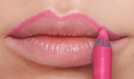 Viršutinės lūpos kontūrų piešimas pieštuku