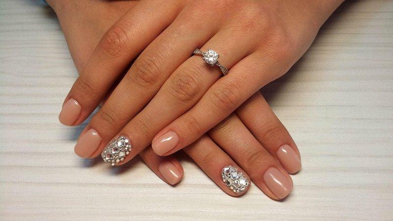 Strass nagels manicure