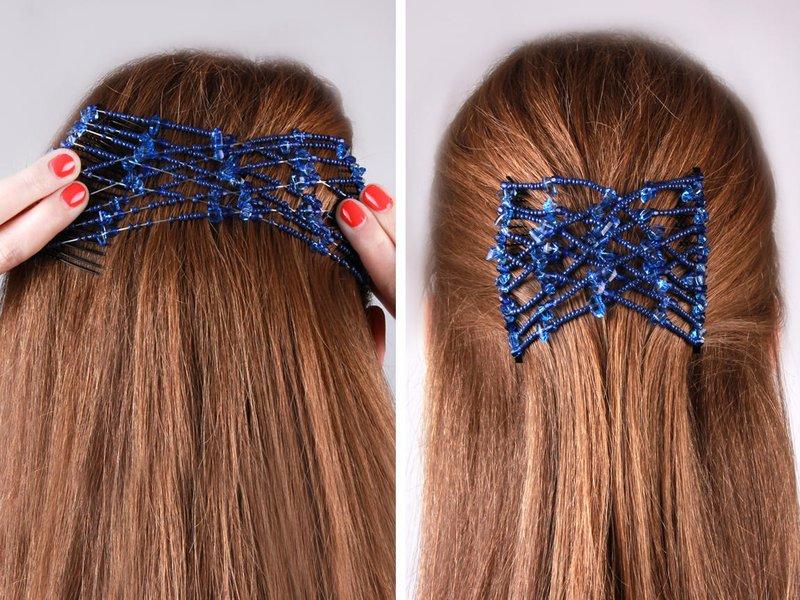Šukuosena su plaukų segtuko tvirtinimu