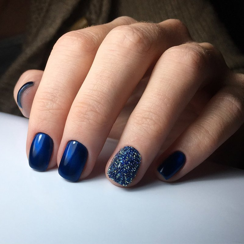 Blauwe gellak