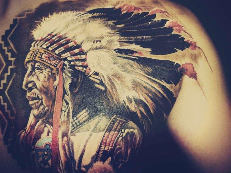 Inheemse Amerikaanse tattoo-amuletten