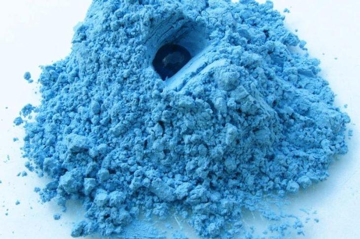 Blauwe klei