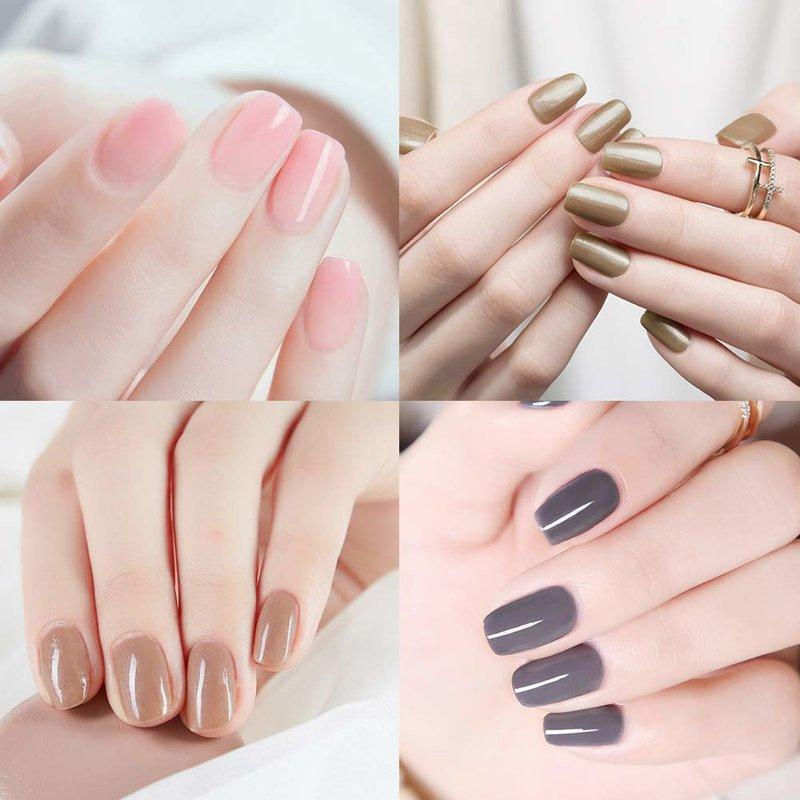 Modieuze naakt manicure