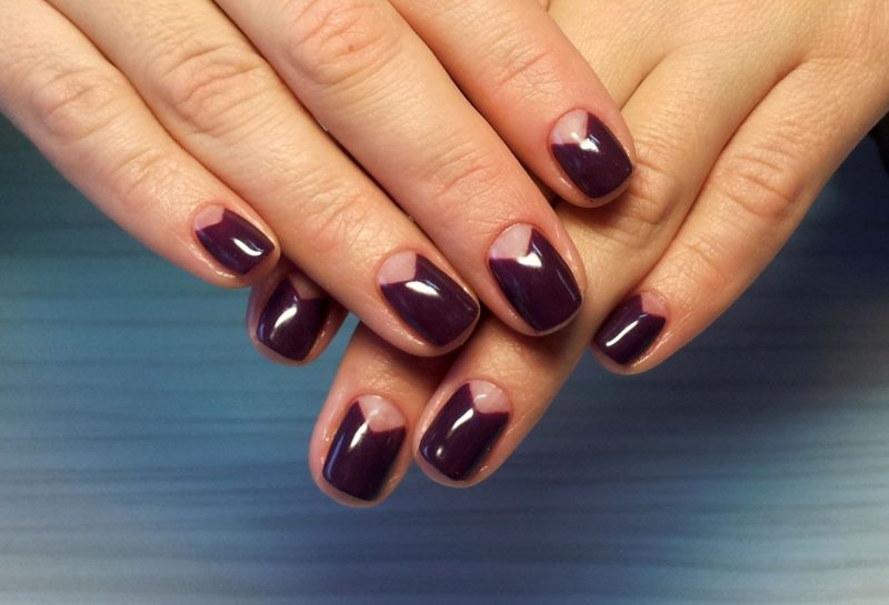 Driehoeksgat manicure