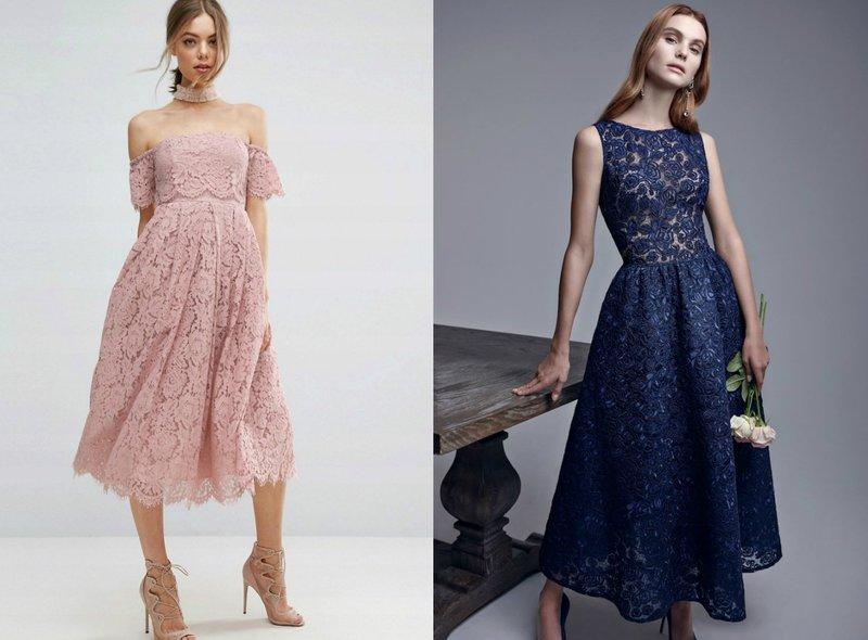 Vrouwelijke jurken van kant