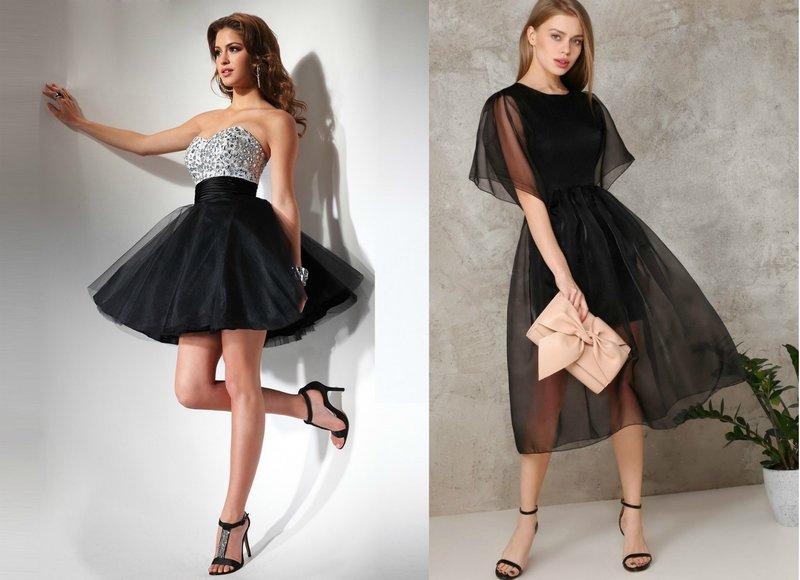 Afstuderen jurken in zwart