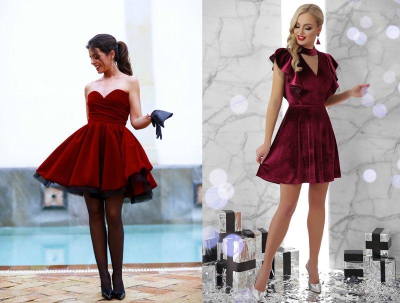 Korte prom jurken in rood en bordeaux