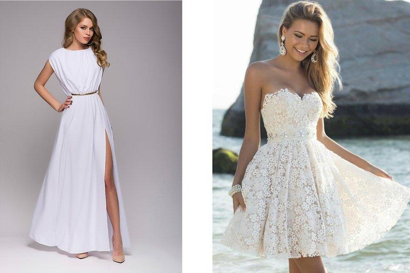 Stijlvolle witte jurken
