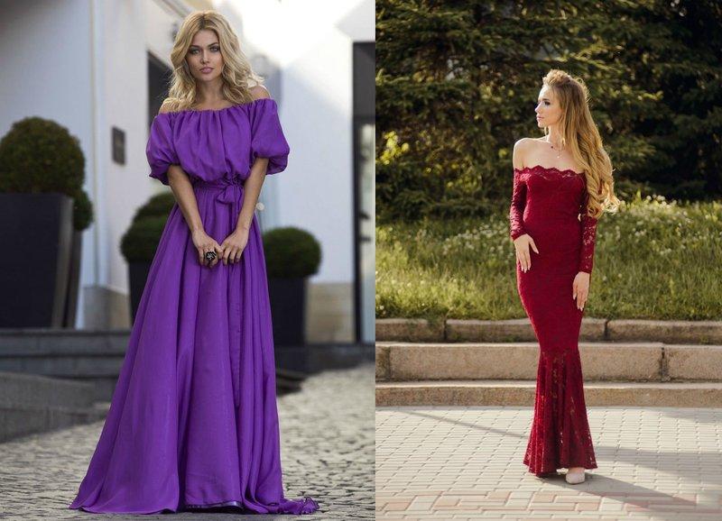 Mooie jurken met blote schouders