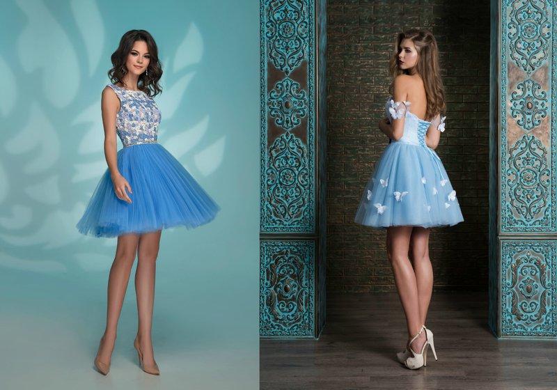 Korte jurken in blauw