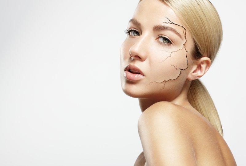 Meisje met een droge huid