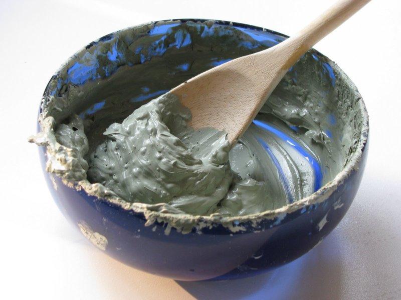 Groen kleimasker