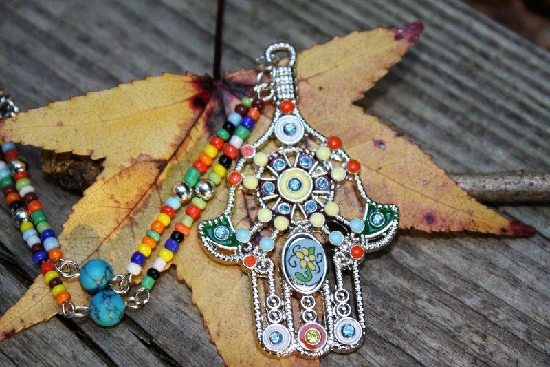 Hamsa-amulet in Indiase stijl