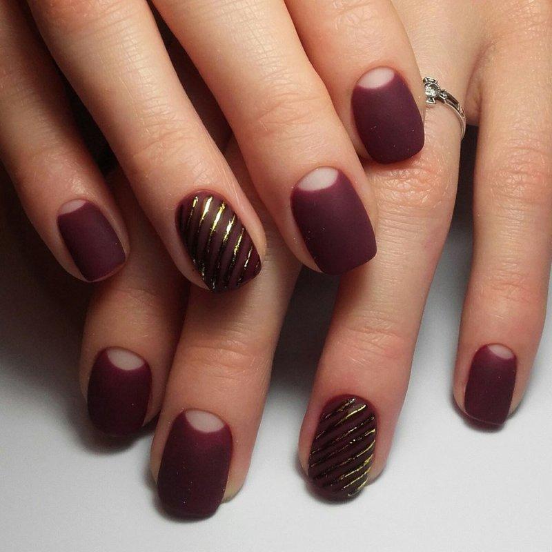Matte Shellac Nail Art