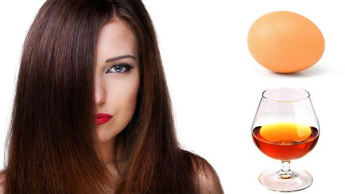 Haarmasker met cognac en ei