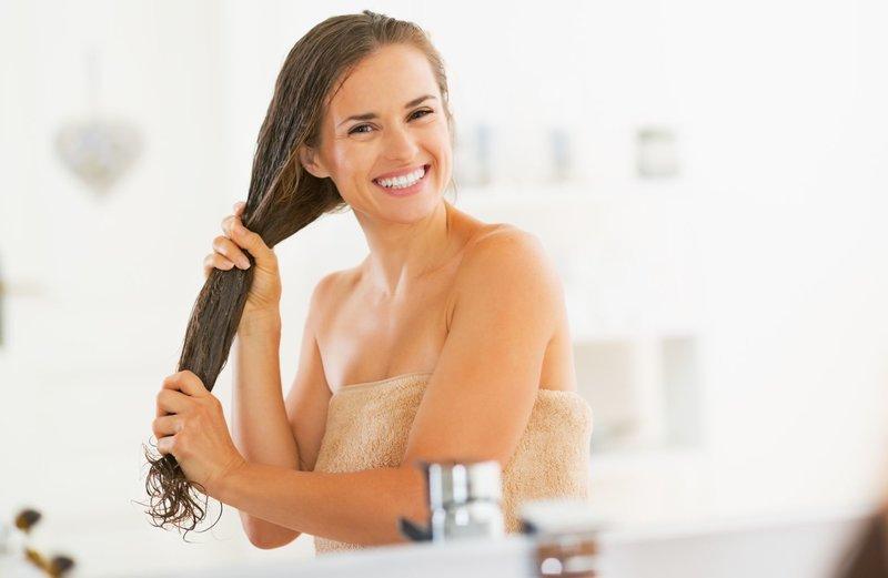 Meisje na een douche
