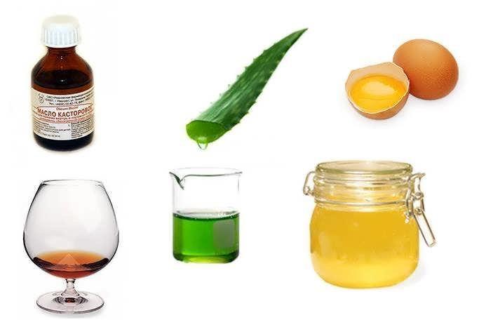 Masker van cognac, honing en eieren