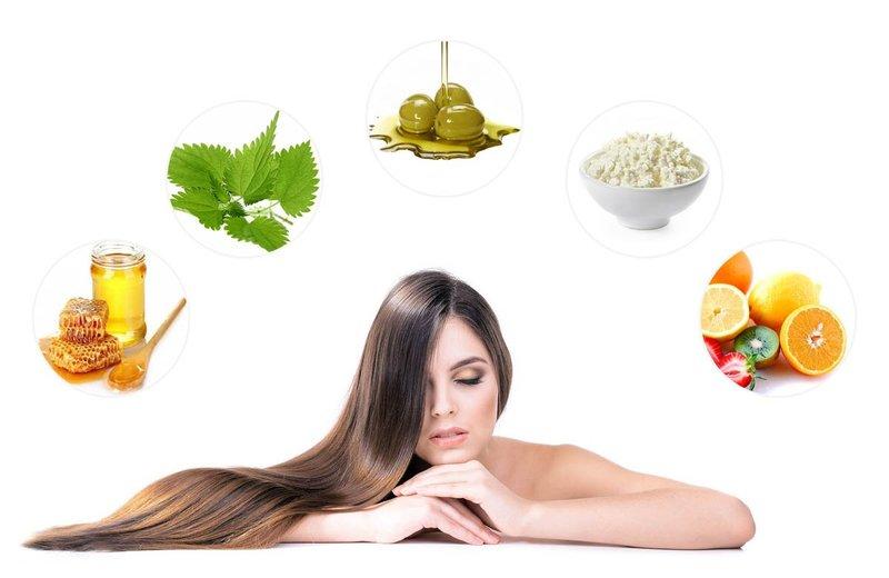 Ingrediënten voor het maken van maskers voor snelle haargroei