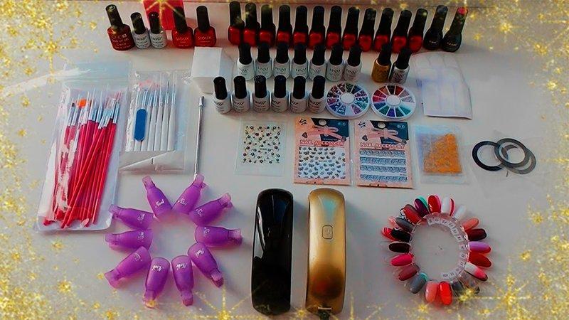 Materialen voor manicure gel polish