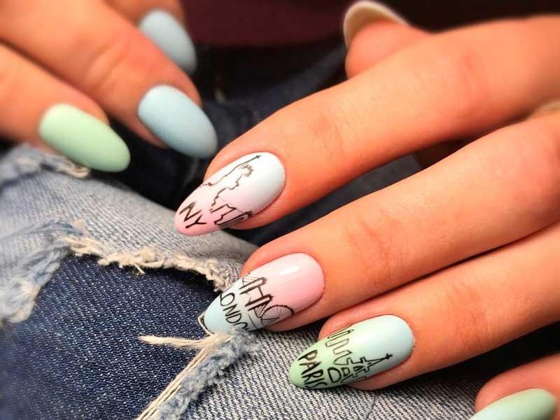 Modieuze patronen op de nagels