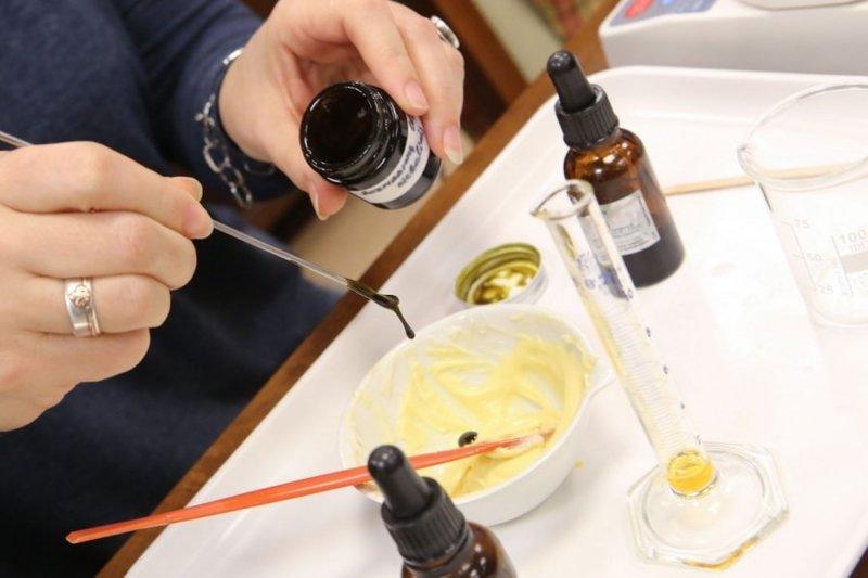 Cosmetische crème testen