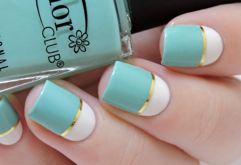 Color Blocking Manicure