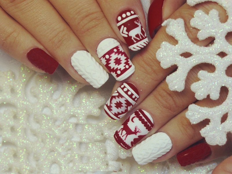Winter nagel ontwerp