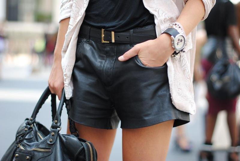 Leren shorts: modetrends