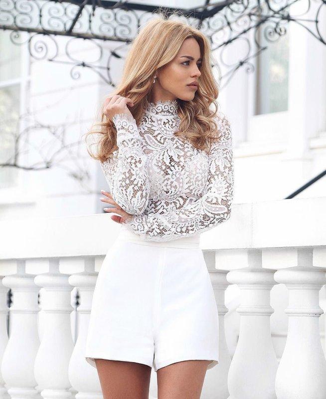 Witte shorts: trendy uiterlijk