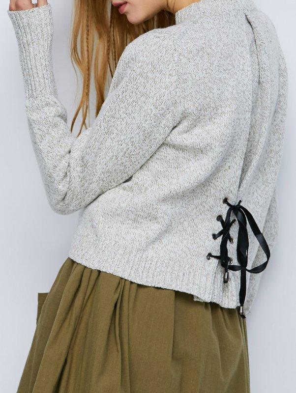 Tie sweater met een rok