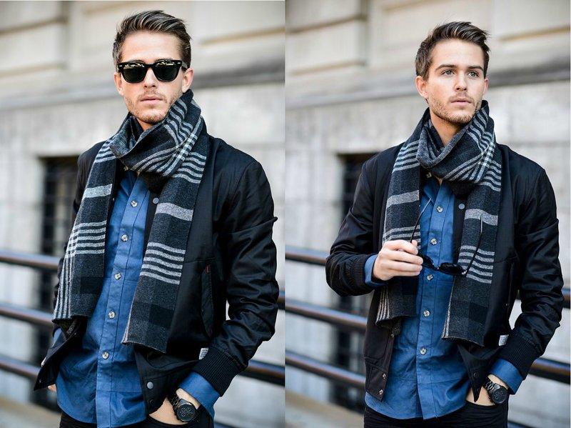 Mode geruite sjaal voor heren