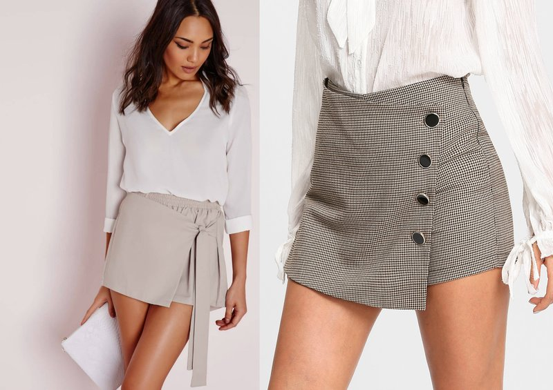Vrouwelijke looks met mini-shorts