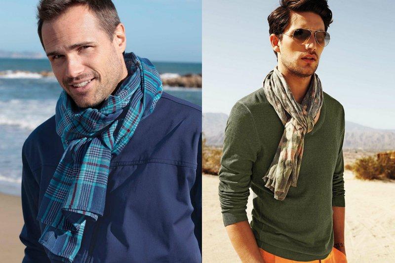 Heren sjaal gestolen in een romantische stijl