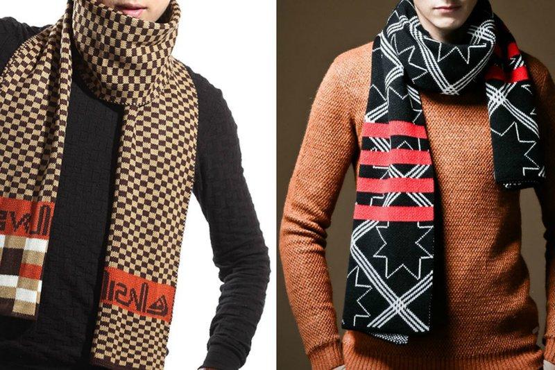 Modieuze sjaals voor heren: geometrische patronen