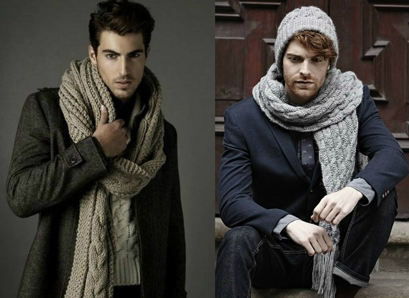 Lange sjaals voor heren