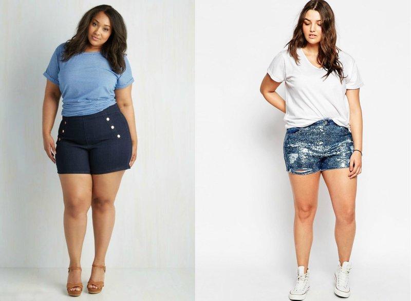 Modellen van shorts voor zwaarlijvige meisjes