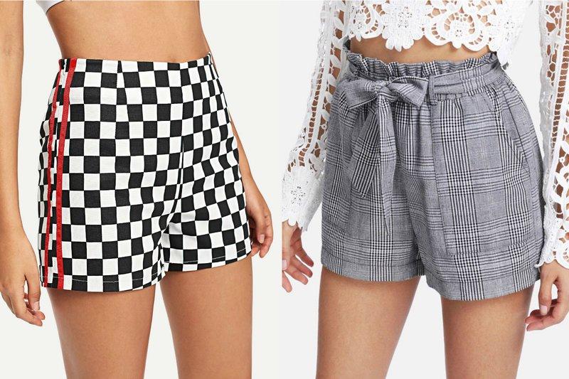 Geruite zomer shorts