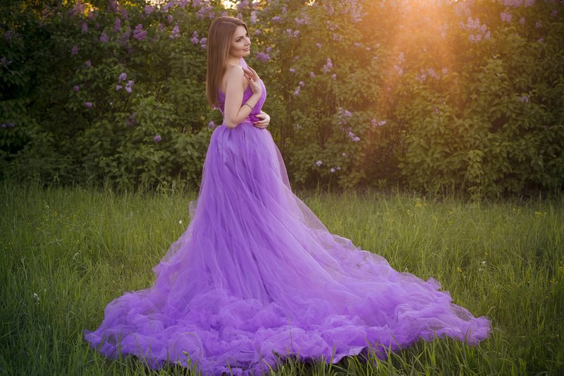 Lavendel trouwjurk